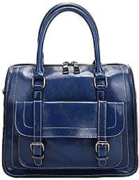 39ddeaeb6d858 E-girl LF-M076 Damen Leder Handtaschen Elegantes Design Henkeltaschen  Schultertaschen Umhängetaschen