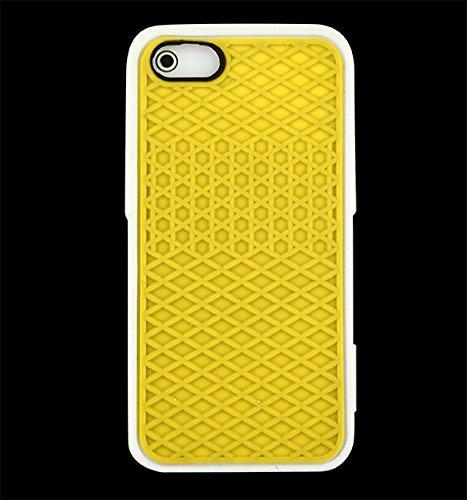 iPhone SE Case - All4you 2 Pcs nouveau Gel de silice unique Style Shell cas couvrir la peau protecteur pour iPhone SE  5  5G (gris) jaune