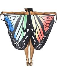 Vestito Senza Maniche Donna Estate Boho Chic Abiti da Spiaggia Casual  Farfalla Abito Bretelle Copricostume Mare c52e9e1ad0a