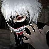 MMRM Tokyo Goule Kaneki Ken Masque Costume Réglable en Faux Cuir Cosplay Halloween