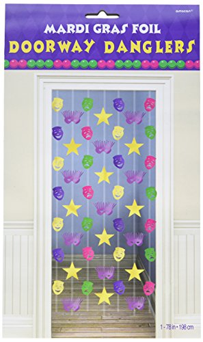 Mardi Gras Cascade Doorway Curtain 65in by Factory Card and Party Outlet
