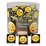 Günthart 135 leckere Schokolade Napolitains mit verschiedenen Emoji mit Nougatcreme Füllung