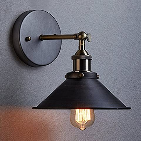 Dazhuan Industrial Vintage Edison Simplicity Wall Light Fixture Wall Sconce Lamp Aged Steel Finish