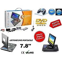 LETTORE DVD PORTATILE 7.8 POLLICI LCD DVX VIDEO CD MP3 MP4 FOTO GIOCHI JOYSTICK