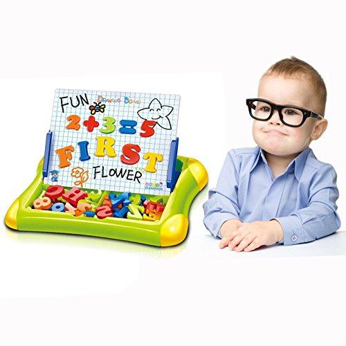 Cisixin Kinder Magnettafel - Magnet Zeichnung Maltafel Baby Lernspielzeug Staffelei mit Nummern Schreiben Magnetformen für Kinder ab 3 Jahren