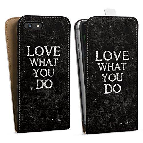 Apple iPhone X Silikon Hülle Case Schutzhülle Love Liebe Sprüche Downflip Tasche weiß