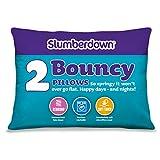 Slumberdown 74 x 48 cm, 2 Stück, Polybaumwolle, elastisch, Weiß