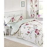 Colcha edredón Floral ave doble con 2 camas de almohada juego de cama Reversible