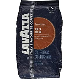 Lavazza Coffee Espresso Super Crema, Whole Beans, 1000g