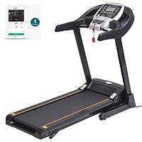 Preisvergleich für mymotto Fitness Laufband Elektrisches Laufband Klappbar Fitnessgerät Home Training mit LCD-Display, App Steuerung,Herzfrequenz Sensor Dämpfungssystem