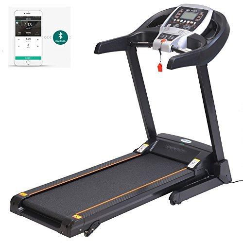 mymotto 3.5 PS Laufband Elektrisches Fitness Haus/Büro Laufband Klappbar Indoor kommerzielles Trainingsgerät 1.0-14KM/H perfekte Dämpfung mit LCD-Display Sportgeräte mit Smartphone App