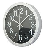 Wanduhr Seattle 30 cm rund schwarz modern Küchenuhr Uhr
