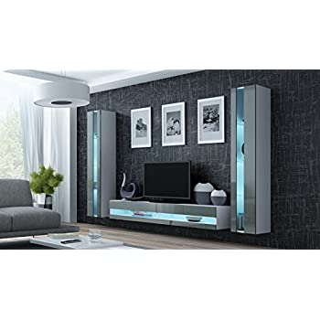 Wohnwand Vigo New3 Anbauwand Wohnzimmer Mobel Hochglanz Mit Led Beleuchtung