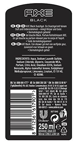 Axe Duschgel Black, 6er Pack (6 x 250 ml)