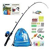 LouiseEvel215 Pesca allaperto Colore Canna da Pesca 1.2 M Manico Dritto Canna da Pesca sul Ghiaccio Inverno Canna da Pesca Attrezzi da Pesca Bambini Polo