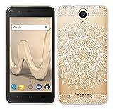 Für Wiko HARRY Hülle Silikon,Sunrive Transparent Handyhülle Schutzhülle Etui Case Backcover für Wiko HARRY(tpu Blume Weiße)+Gratis Universal Eingabestift