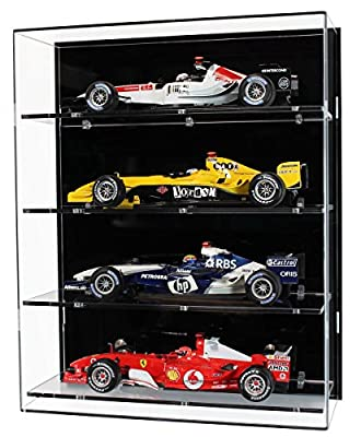 Acrylic Wall Display Case for Four 1:18 Scale Model Formula One Cars