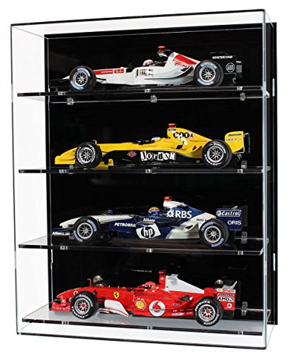 widdowsons Display Fällen Wand Display Schutzhülle für Vier Maßstab 1: 18Modell Formula One Cars, Acryl, 35,2x 16,5x 43cm