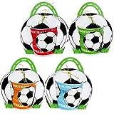 Lote de 20 Tazas Fútbol en Bolsa de Regalo - Originales y prácticos recuerdos para Fiestas de Cumpleaños e invitados de Comuniones y Bodas detalles Infantiles