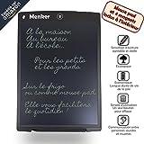 """Tableta de escritura Menker de 12 """"con alfombrilla de ratón y 4 imanes incluidos, pizarra LCD infinita borrable, para cocina, oficina, escuela, bloc de notas digital para niños y adultos"""