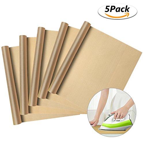 Philonext 5 STÜCK Backmatte Backpapier Dauerbackfolie Backunterlage Antihaftbeschichtet, Haltbare Backfolie Backunterlage, Ausrollmatte, BPA frei, Backunterlage Teigmatte Backmatte Teigunterlage