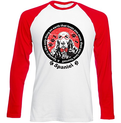 Teesquare1st SPANIEL IS THE ONLY THING Tshirt con maniche rosse lunghe T-shirt Size Medium