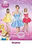 Simplicity us1553hh Größe HH Schnittmuster Disney Princess Kostüm