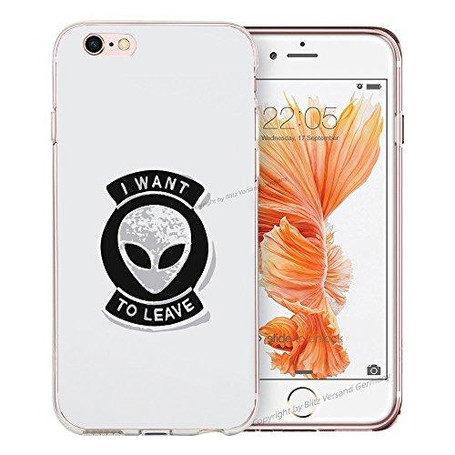 Blitz® BANANA motifs housse de protection transparent TPE caricature bande iPhone Stars & Stripes M16 iPhone 4 Je veux quitter M14