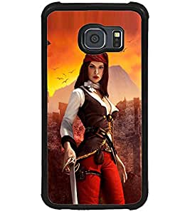 ColourCraft The Warrior Girl Design Back Case Cover for SAMSUNG GALAXY S6