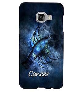 PrintVisa Zodiac Cancer 3D Hard Polycarbonate Designer Back Case Cover for Samsung C5