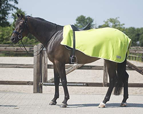 QHP Nierendecke Fleece-Ausreitdecke Color Fleecedecke Sattelausschnitt (XL, Lime)