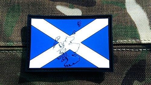 Patch Velcro Airsoft PVC Relief Drapeau Écosse