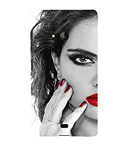 EPICCASE Lady with cool nailpaint Mobile Back Case Cover For Nokia Lumia 540 (Designer Case)