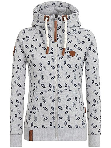 Naketano Female Zipped Jacket Gebimster Brazzo Grey Melange