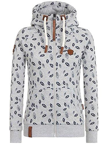 Naketano Female Zipped Jacket Gebimster Brazzo Grey Melange
