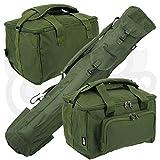 Karpfen Grob Angeln Gepäck-Set Quiver Rutentasche & Deluxe Gepolsterte Angeltasche hergestellt von NGT