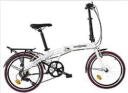 Ecosmo 20AF09W Citybike / Fahrrad, 50,8 cm, leicht, Legierung, klappbar, 12 kg