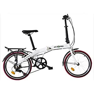 51c8MGi%2Bk7L. SS300 Bici da città pieghevole, con telaio in lega leggera da 50,80 cm, 12 kg, di ECOSMO, modello 20AF09W