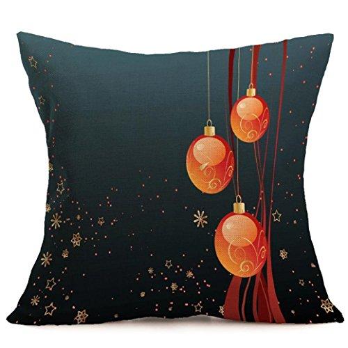 Feliz Navidad !!! Funda de almohada,Longra cómodo y exquisito hogar y la decoración del sofá (B)