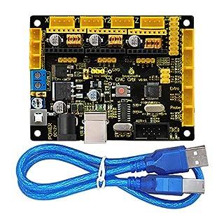 KEYESTUDIO Grbl CNC Controller Board, DIY CNC Grbl V0.9 Mikrocontroller für Laser Schere, automatische Hand Schriftsteller, Loch aufzubohren für Arduino Mega 2560 R3