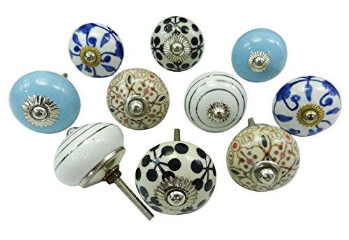 vintage-kuchen-schublade-knopfe-hand-bemalt-keramik-kabinett-schrank-pulls