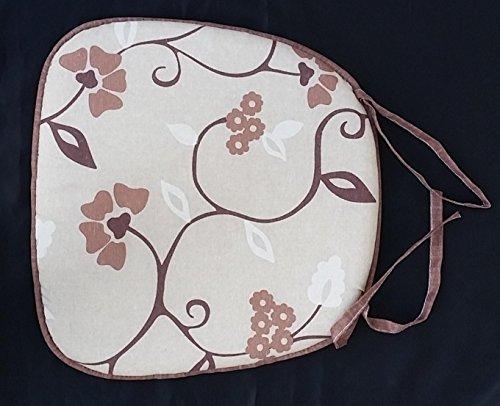 N.6 cuscini coprisedia forma a goccia puro cotone bordato forma uovo alta qualità made in italy (ramage marrone)