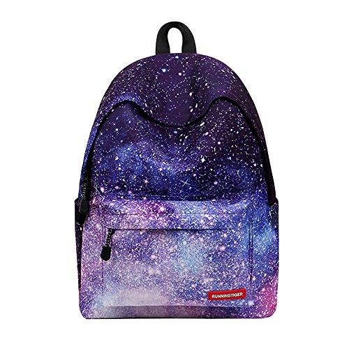 Zaino di tela casual, outdoor impermeabile moda boy girl travel zaino fresco escursionismo sport zaino traspirante borsa unisex trend school (design : a)