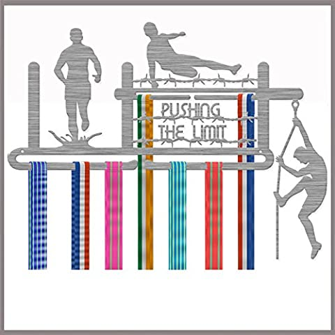 Medaille Aufhänger Display Pushing the Limit Edelstahl Triple Kontingent