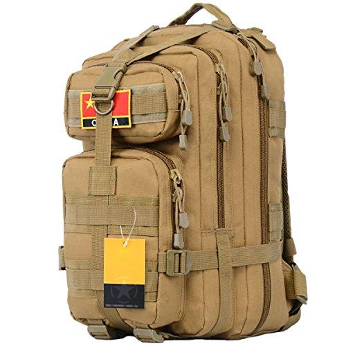 Militär Fans Outdoor Klettern Paket Taktische Doppel Schulter Tasche Männer Und Frauen Reisen Wasserdichte Breathable Tasche,ACU PlusSection-MudColor
