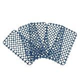 Homyl 5 Stücke Ringmatte Wabenmatte Fußmatte für Vögel, Papageien, Aras, Graupapageien, Wellensittiche, Kakadus, Sittiche, Nymphensittiche, Finken - Blau