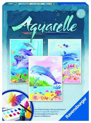 Imagen principal de Ravensburger 29310 Delfines - Set de acuarelas con motivos para colorear (18 x 24 cm) [importado de Alemania]