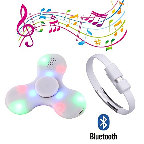 CRYSLE Hand Spinner Toy with Wireless Bluetooth speaker and LED LightStress Reducer Ultra Durable High Speed Bearing Fidget Finger Perfect for Leisure Time