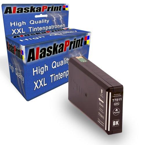 Preisvergleich Produktbild Druckerpatrone Kompatibel für Epson T7021 T7011 T7031 XL BK Schwarz Black für Epson WorkForce PRO WP4015 WP4025 WP4095 WP4515 WP4525 WP4535 WP4545 WP4595 WP 4015 WP 4025 WP 4095 WP 4515 WP 4525 WP 4535 WP 4545 WP 4595 Epson Workforce Pro WP-4000 WP-4015DN WP-4095DN WP-4500 WP-4515DN WP-4525DNF WP-4595DNF WP-4025DW WP-4535DWF WP-4545DTWF mit Chip 1xT7011BK