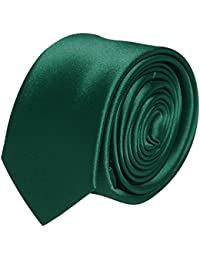 Mens Bottle Green Skinny / Slim Tie